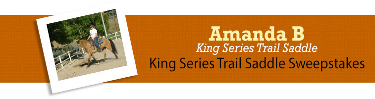 Horse.com's King Series Trail Saddle Sweepstakes Winner
