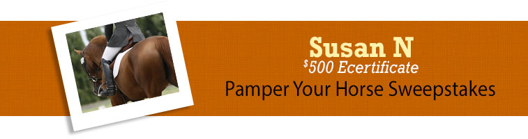 Horse.com's Pamper Your Horse Sweepstakes Winner