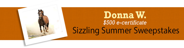 Horse.com's Donna W Sizzling Summer Sweepstakes Winner