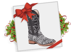 Roper® Ladies' Black Bling Square Toe Boot!
