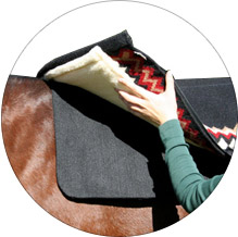 Set the saddle pad