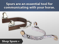 Spurs are an essential tool for communicating with your horse