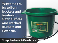 Winter takes its toll on buckets and feeders