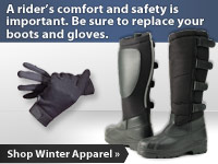 A rider's comfort and safety are important. Replace your riding gear.