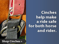 Cinches help make a ride safe for both horse and rider