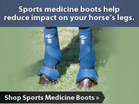 Sports medicine boots help reduce impact on your horse's legs