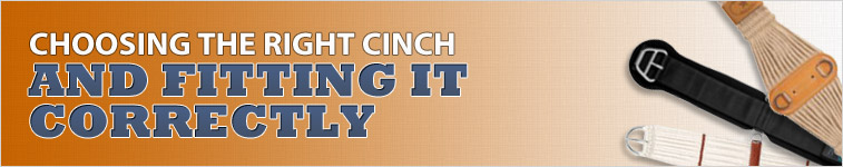 Choosing the right cinch and fitting it correctly