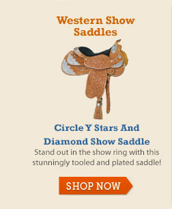 Circle Y Stars and Diamond Show Saddle