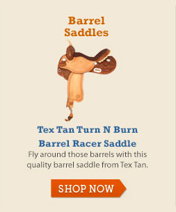 Tex Tan Turn N Burn Barrel Racer Saddle