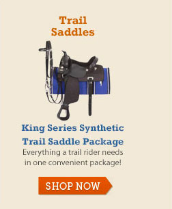 King Series Synthetic Trail Saddle Package